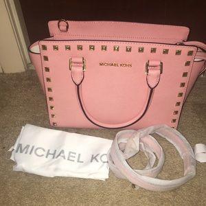 Michael Kors Selma Medium Pale Pink Satchel NWT
